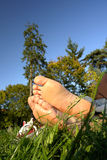 Resting Feet royalty free stock photography