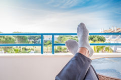 Resting feet in Spain Stock Photo