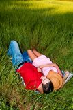 Resting in a field Stock Images