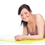 Resting fitness woman Royalty Free Stock Image