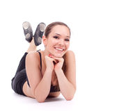 Resting fitness woman Stock Images