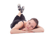 Resting fitness woman Stock Photo
