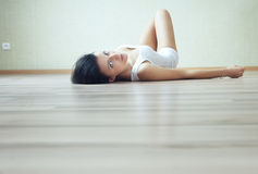 Resting on the floor Royalty Free Stock Photography