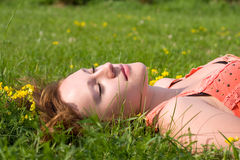 Resting girl Royalty Free Stock Photography