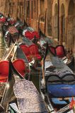 Resting gondolas. Stock Photos