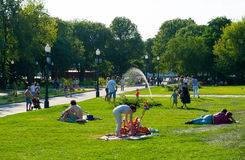 Resting in the Gorky Park Stock Photography