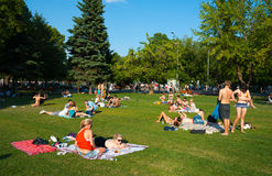 Resting in the Gorky Park Stock Images