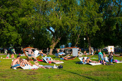 Resting in the Gorky Park Royalty Free Stock Photography