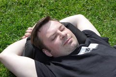 Resting on the grass Royalty Free Stock Photos