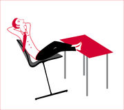 Resting guy. At the office work enjoy Royalty Free Stock Image