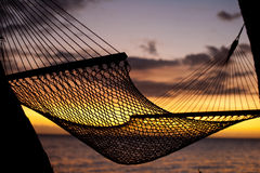 Resting hammock at sunset Stock Photography