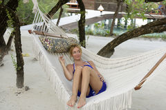 resting in a hammock. Stock Images