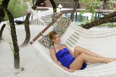 Resting in a hammock. Stock Photography