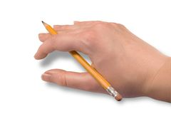 Resting Hand (clipping path) Royalty Free Stock Images