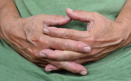 Resting hands Royalty Free Stock Photography