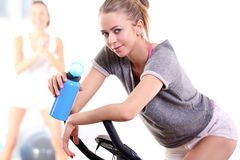 Resting after a hard workout on the bike Royalty Free Stock Photography