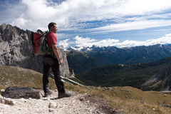 Resting Hiker Stock Images