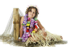 Resting Hula Girl Royalty Free Stock Image
