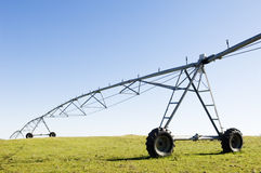 Resting irrigation pivot Royalty Free Stock Image