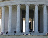 Resting at the Jefferson Memorial Royalty Free Stock Photo