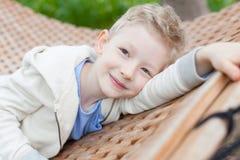 Resting kid Stock Photo