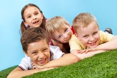 Resting kids Royalty Free Stock Image