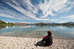 Resting at Lake Wakatipu Royalty Free Stock Photo