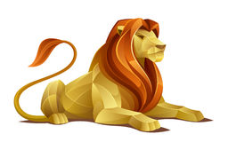 Resting lion. On a white background Royalty Free Stock Photos
