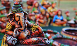 Resting lord Ganesha Royalty Free Stock Photography