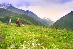 Resting in mountains Royalty Free Stock Photography