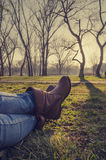 Resting in nature Stock Image