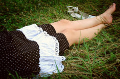 Resting On Grass. Royalty Free Stock Photography