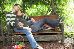 Resting On The Bench Royalty Free Stock Photos