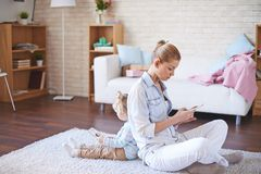 Resting online Royalty Free Stock Photos