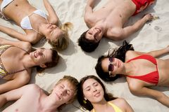 Resting people Stock Image