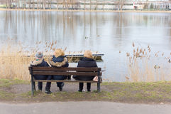 Resting people Royalty Free Stock Images
