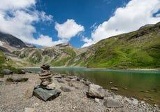 Resting place on the Großglockner high alpine road. Austria stock photos