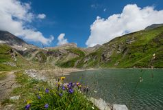 Resting place on the Großglockner high alpine road. Austria stock image