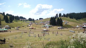 Resting place guests at the Festival of Rozhen 2015 stock video footage