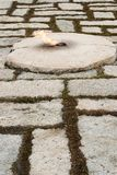 The resting place of JFK. The eternal flame and burrial place of John F Kennedy the 35th president fo the United States, Arlington National Cemetery. John F Stock Images