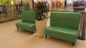 Resting place in the Mall. Sofas for rest.  royalty free stock images