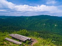 Resting place on mountain Royalty Free Stock Image