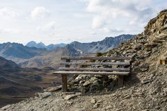 Resting place on the mountain top. The resting place on the mountain top stock photography