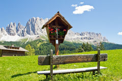 Resting place. Nice resting place at the Dolomites royalty free stock image