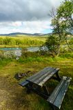 Resting Place at Norway. Resting place in norway during hiking stock photos