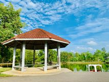 A resting place in Pattani Park That is Somdej Phra Srinakarin Garden. Photos stock photo
