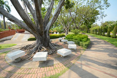 Resting place. Scening view of resting place in the park, Thailand stock photos