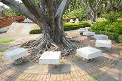 Resting place. Scening view of resting place in the park, Thailand stock photography