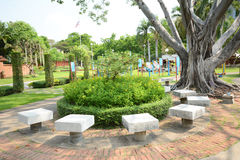 Resting place. Scening view of resting place in the park, Thailand royalty free stock photo