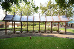 Resting place. Scening view of resting place in the park, Thailand royalty free stock photography
